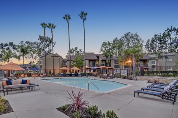 Sparkling Swimming Pool, at Park Pointe, El Cajon, CA