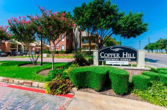 Entrance to Copper Hill Apartments