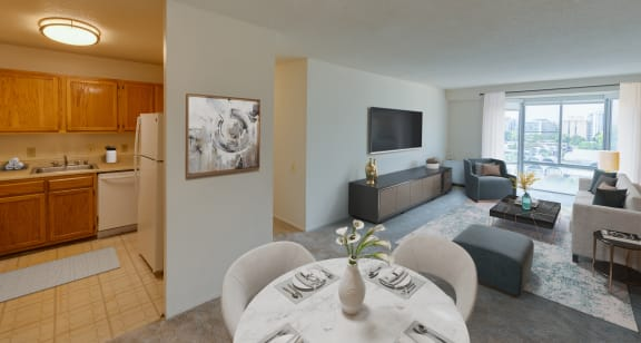 Staged two bedroom