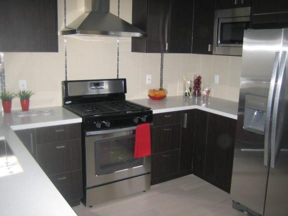 Azure the Residences kitchen area with appliances