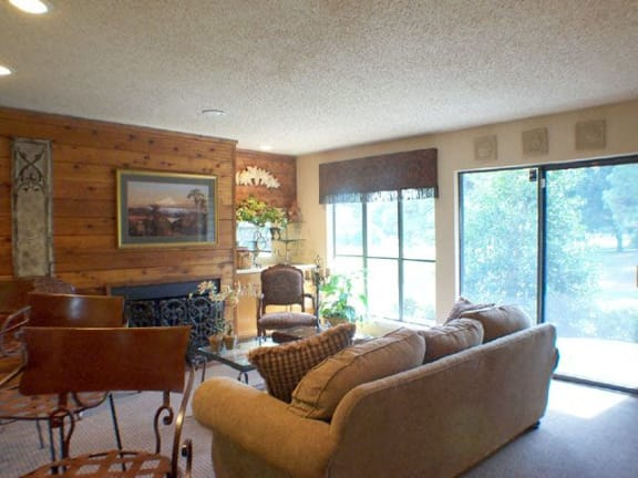 Meadow Green Apartments living area with decor