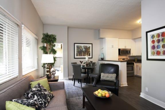 Axiom Westwood Luxury Apartments Living Room