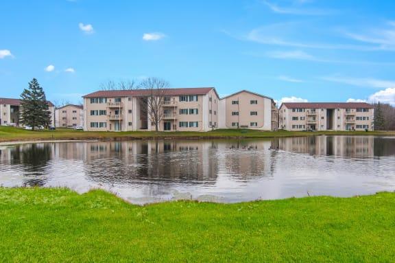 Lake With Lush Natural Surrounding at Glengarry Park, Michigan, 48328