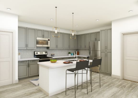 kitchen islands in our luxury apartments in midland