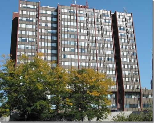 high rise apartment building