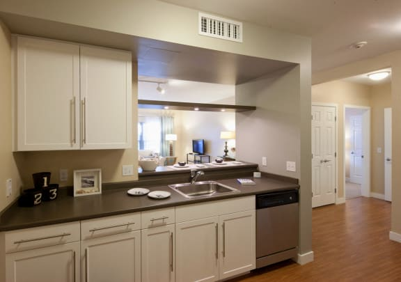 Kitchen at Ocean Shores Apartments in Marshfield, MA