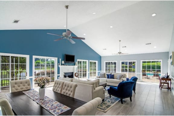 Grand Clubhouse Living Room at Laurelwood Apartment Homes, Laurel, Mississippi, 39440