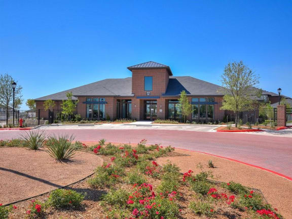 Clubhouse Exterior at The Emerson, Pflugerville