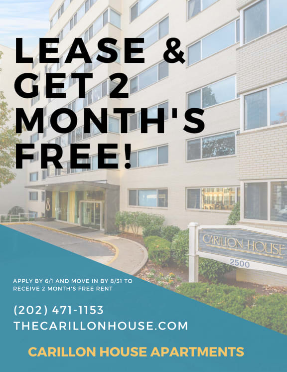 Carillon House Apartments DC-2 Month's Free