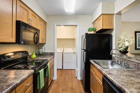Kitchen Interior at Rosemont Apartments