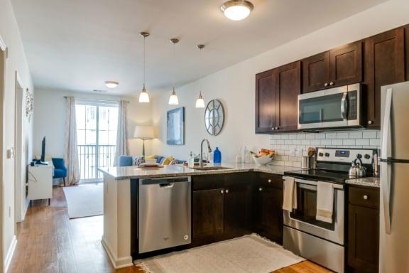 Model One Bedroom Kitchen, The Royal Athena, Bala Cynwyd, PA
