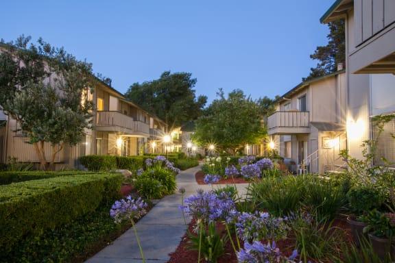 Courtyard Garden Space at Appletree Apartments, California, 95008