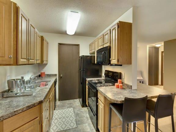 Lou Park Apartments in St. Louis Park, MN Kitchen