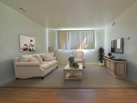 Modern Living Room at Huntington Place Apartments, Essexville