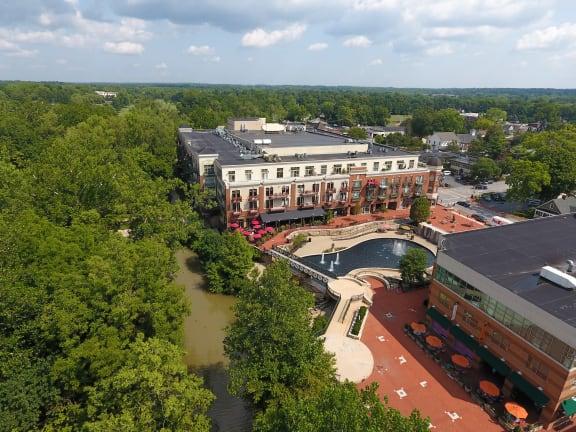 Ariel image of Residences of Creekside Plaza.