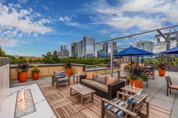 Blu Bellevue Apartments Rooftop Deck