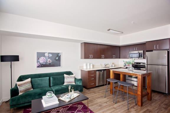 Savior Street Flats Apartments  Kitchen and living room