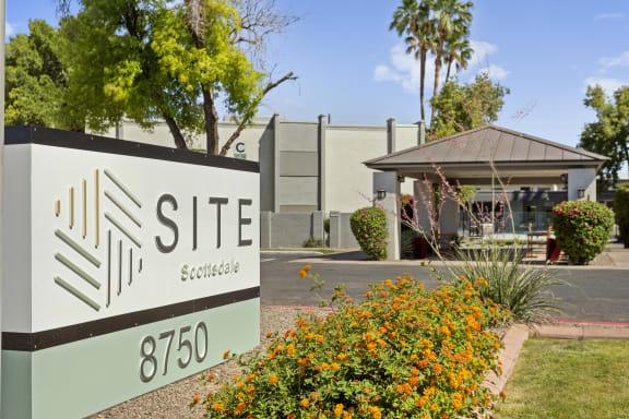 SITE Scottsdale Exterior Monument Sign