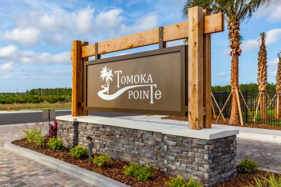 Welcoming Property Signage at Tomoka Pointe, Daytona Beach, 32117