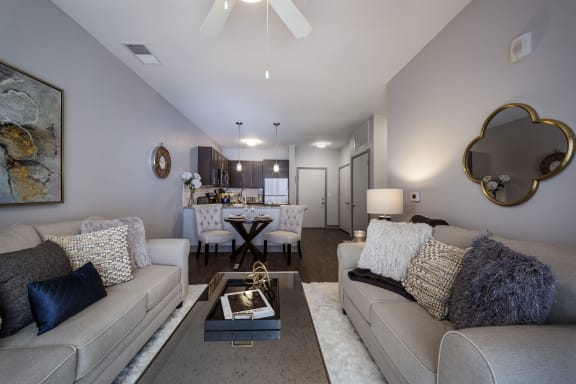 Waveland Living Room at The Ivy at Berlin Place, South Bend, IN, 46601