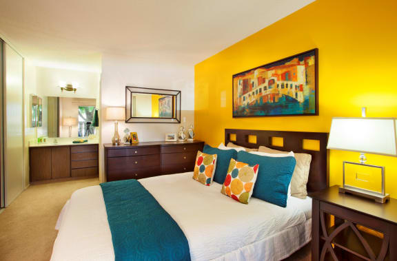 bright spacious bedroom at Patterson Place, Santa Barbara, CA