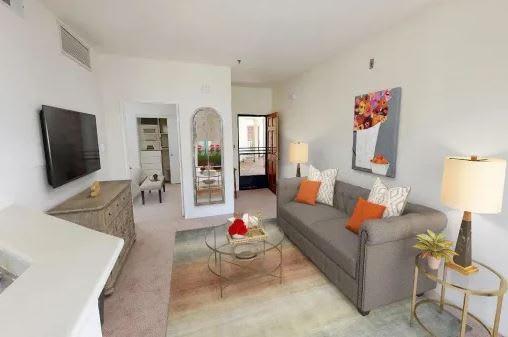 Living room charm at Rancho Franciscan Senior Apartments, Santa Barbara, 93105