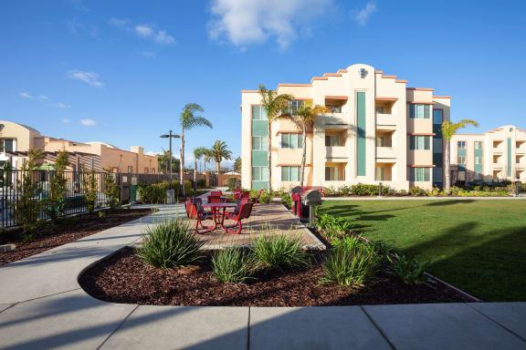 Garden Pathways at Hancock Terrace Apartments, Santa Maria, CA, 93454