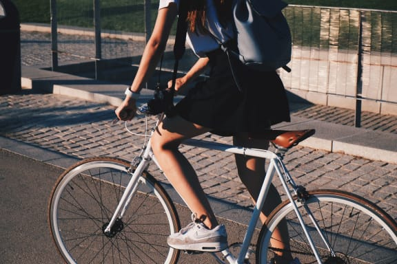 Bicycle at Hancock Terrace Apartments, Santa Maria, CA, 93454