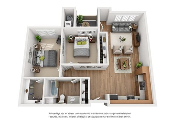Layout Floor Plan at Hancock Terrace Apartments, Santa Maria, 93454