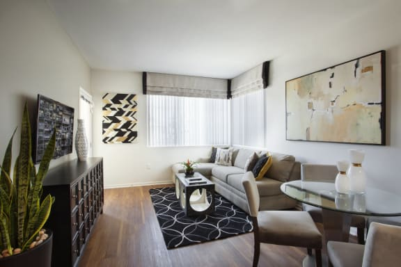 Clean Living Room at Hancock Terrace Apartments, Santa Maria, CA
