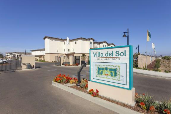 Property Signage at Villa Del Sol, Santa Maria, CA