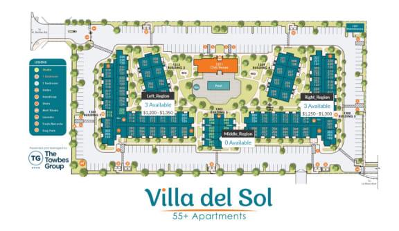 Floor Plans at Villa Del Sol, Santa Maria, 93458