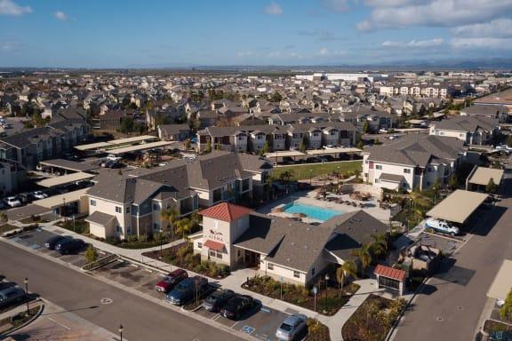 community_aerial_view at Siena Apartments, California, 93458