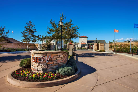 Entrance at Siena Apartments, Santa Maria, CA