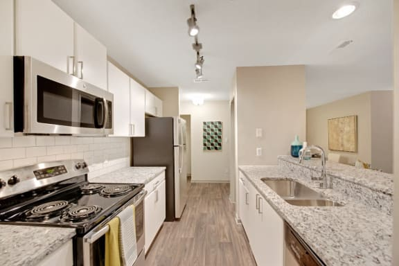 Upgraded Kitchen With Stainless Steel Appliances at Crosstown at Chapel Hill, North Carolina, 27517