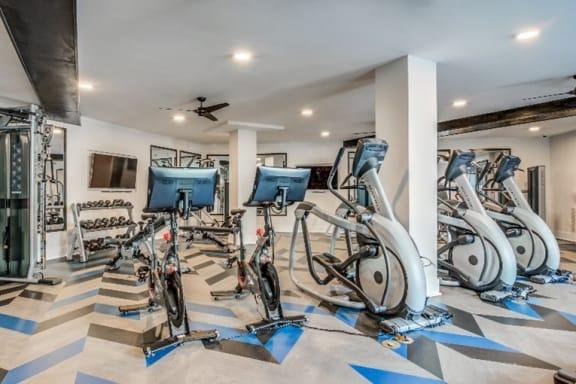 Pelton Bikes at Spoke Apartments, Atlanta, Georgia