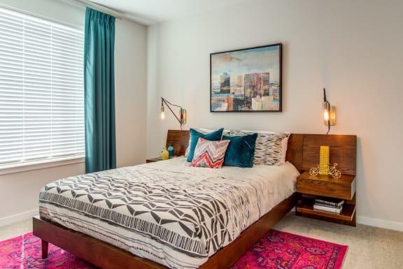 model_apartment_bedroom at Spoke Apartments, Georgia, 30307