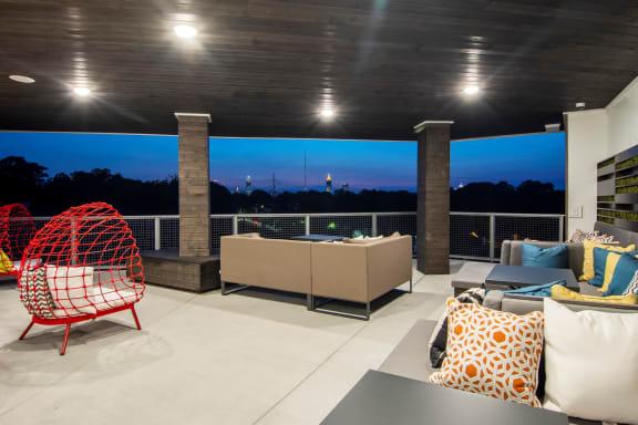 patio_area at Spoke Apartments, Atlanta, 30307
