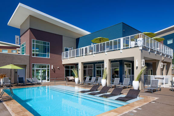 Swimming Pool With Relaxing Sundecks at Riverwalk, Eugene, OR
