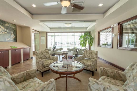 inside the clubhouse at 700 Acqua at Windy Knolls