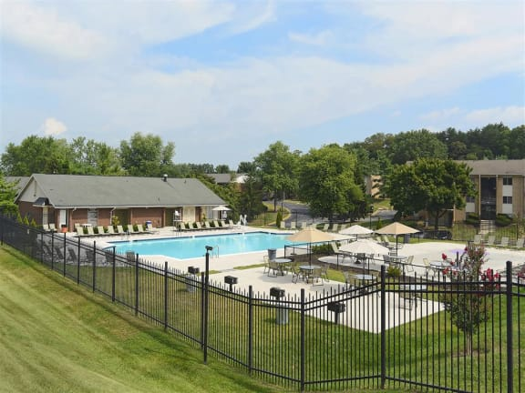 Olympic-size Swimming Pool  at Doncaster Village Apartments, Parkville, MD,21234
