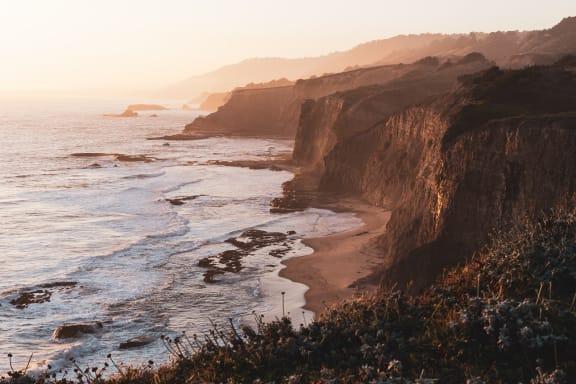 Coastline at Encina Meadows, California