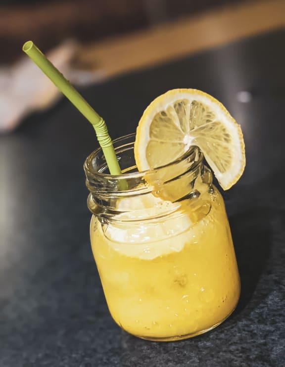 lemonade in mason jar at Knollwood Meadows Apartments, Santa Maria, CA