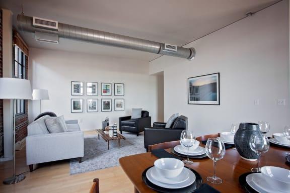 Crane- Portland, OR Crane Flats and Lofts living room