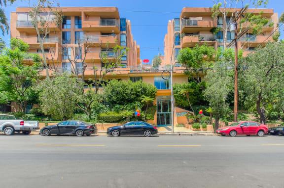 Front View at La Vista Terrace, Hollywood, California