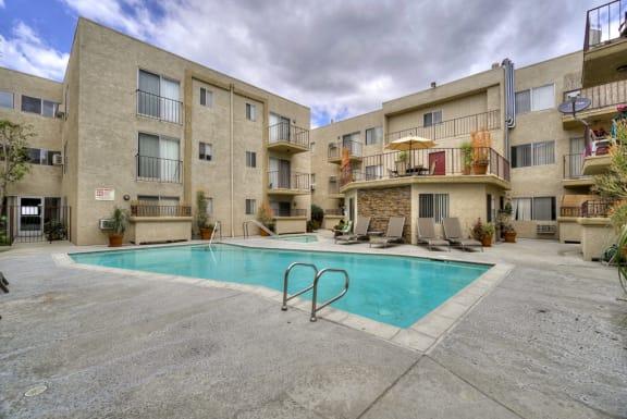 Resort-Style Pool at Park Merridy, California