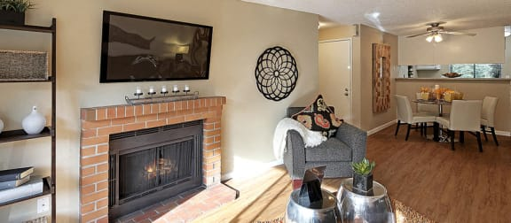 Built-In Fire Pit Facility Luxurious Interiors at Copper Ridge Apartments, Renton, WA