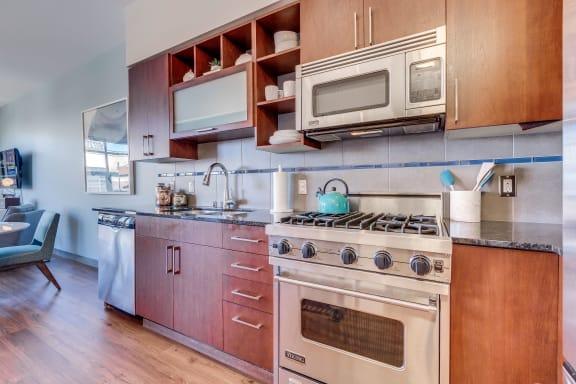 Sleek Stainless Steel Appliances at Equinox, Seattle, 98102
