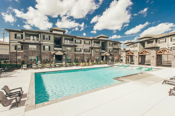 Resort-Style Pool at Vintage Blackman Apartments in Murfeesboro, Tennessee