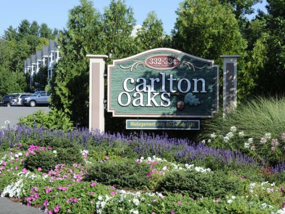Entrance of Carlton Oaks